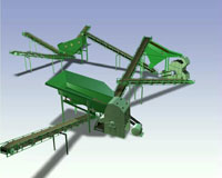 Large crusher - crusher plant with dry separation plant for limestone